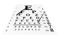 Modern glasses with eyechart Royalty Free Stock Images