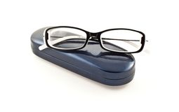 Glasses on its case Royalty Free Stock Photography