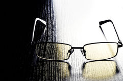 Modern glasses to eye protection with yellow lenses Royalty Free Stock Photos