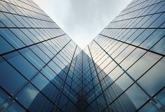 Modern Glassy Architecture. Concept Illustration. Glassy Towers stock photos