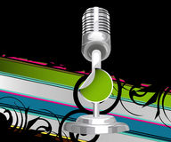 Modern glittering microphone Royalty Free Stock Photo