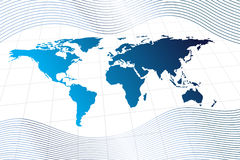 Modern global world map Stock Image