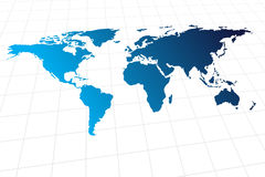 Modern global world map Royalty Free Stock Images