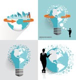 Modern globe and City with application icon, modern template des Stock Photography
