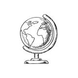 Modern globe with desktop stand sketch Stock Photography