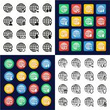 Modern Globe Icons All in One Icons Black. This image is a vector illustration and can be scaled to any size without loss of resolution Vector Illustration