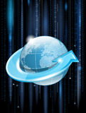 Modern globe network Stock Photos