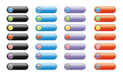 Modern glossy buttons Stock Photos