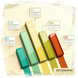 Modern glossy 3d bar chart infographic. Elements Stock Photos