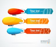 Modern glossy infographics options arrow banner Stock Photography
