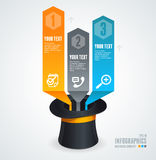 Modern glossy infographics options arrow banner Royalty Free Stock Image
