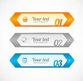 Modern glossy infographics options arrow banner Stock Photos