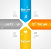Modern glossy infographics options arrow banner Stock Image