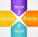 Modern glossy infographics options arrow banner Stock Images