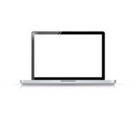 Modern glossy laptop illustration design Stock Photo