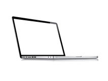 Modern glossy laptop. Isolated on white vector eps10 Royalty Free Stock Image