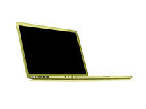 Modern glossy laptop Royalty Free Stock Image