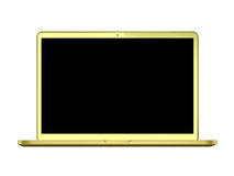 Modern glossy laptop Stock Images
