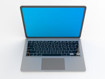 Modern glossy laptop on white. Royalty Free Stock Image