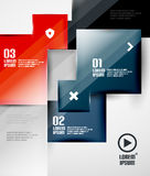 Modern glossy square infographics Royalty Free Stock Images