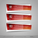 Modern Glossy Vector Banners Stock Photos