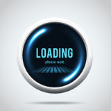 Modern glowing  progress loading bar Stock Image