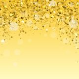 Modern Gold Holiday Background. Golden Stars Confetti. Vector vector illustration