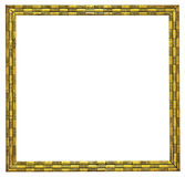 Golden picture frame. Isolated on white background stock photo
