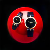 Modern Gold Watches. Royalty Free Stock Photography