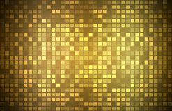 Modern golden abstract background with transparent squares. Mosaic look, vector illustration royalty free illustration