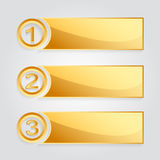 Modern golden banner. For any business Royalty Free Stock Photos