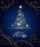 Modern golden Christmas tree Royalty Free Stock Photography