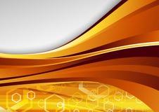 Modern golden hi-tech background Stock Photos