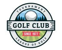 Modern Golf Badge Logo Illustration
