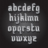Modern Gothic Font Stock Photos