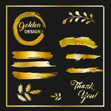 Modern gouden borstelontwerp, vector Royalty-vrije Stock Afbeelding