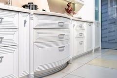 Modern gourmet kitchen interior royalty free stock photos
