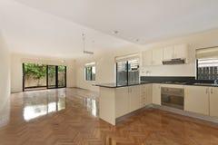 Modern gourmet kitchen interior Royalty Free Stock Image