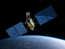 Modern GPS satellite Royalty Free Stock Image