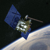 Modern GPS satellite Royalty Free Stock Photo
