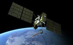 Modern GPS satellite vector illustration