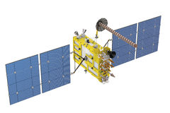 Modern GPS satellite isolated Royalty Free Stock Photos