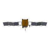 Modern GPS satellite isolated on white 3D Illustration Stock Photo
