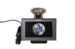 Modern GPS Satellite navigation around earth Royalty Free Stock Photos
