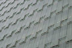 Modern grå glass fasad Arkivfoto