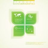 Modern grön infographic design också vektor för coreldrawillustration Arkivbilder