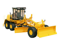 Modern grader isolated Stock Photography