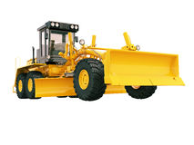 Modern grader isolated Stock Images