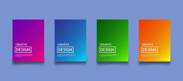 Modern gradient color background design template set. Elegant, Luxury, Geometry, Business royalty free illustration