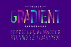 Modern Gradient font Royalty Free Stock Image
